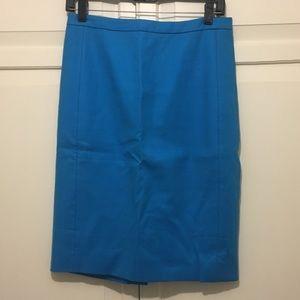 J. Crew Work Skirt - Blue (Size 2)